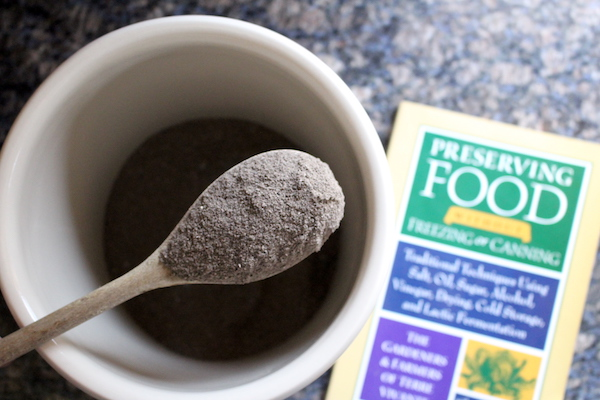 Wood ash and the book Preserving Food without Freezing or Canning