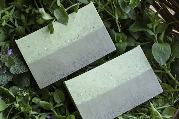 Gardener's Soap with Spring Weeds