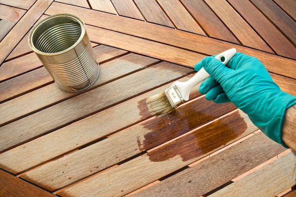 You can make a homemade natural wood stain using old coffee grounds.