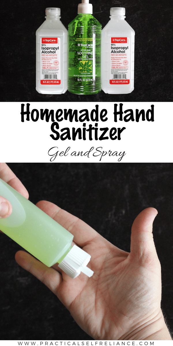 Homemade Hand Sanitizer (Gel or Spray)