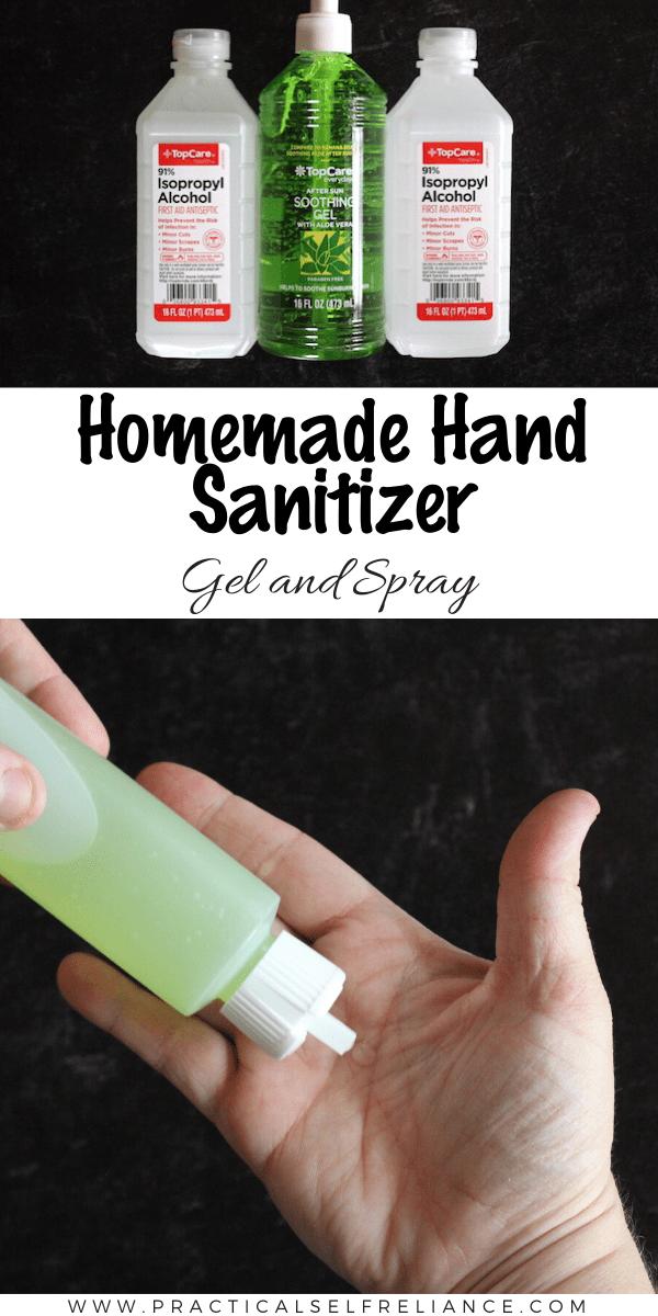 Homemade Hand Sanitizer (Gel or Spray)