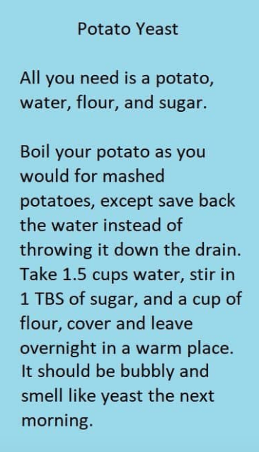 Potato Yeast Starter