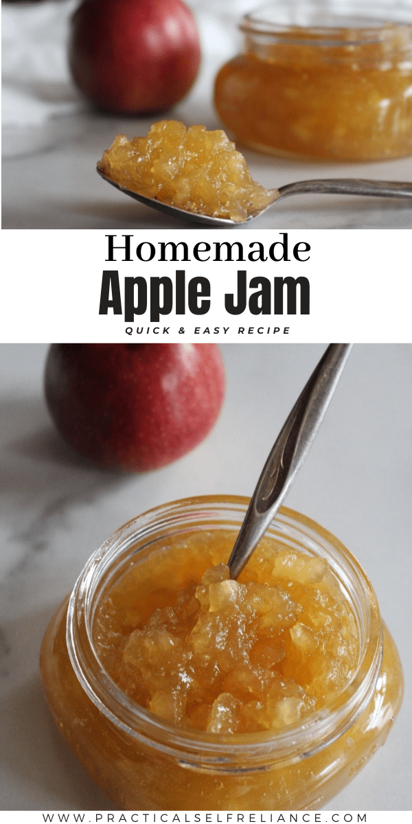 Homemade Apple Jam is quick and easy, with just a few ingredients and no added pectin. Learn how to preserve apples in old fashioned apple jam.