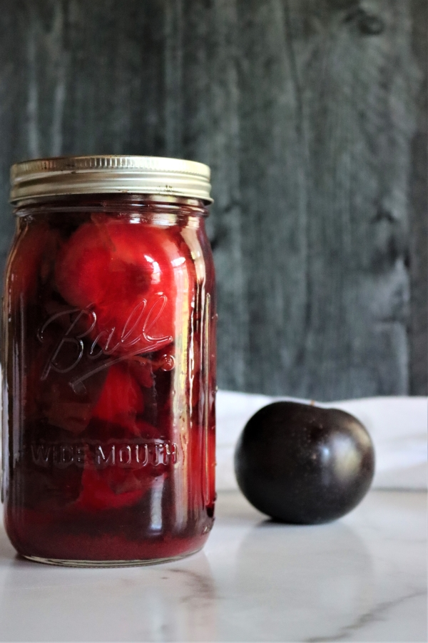 Canning plums in a water bath canner