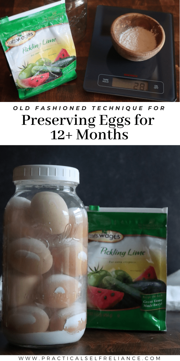 Preserving eggs in lime water is a historical egg preservation technique that can keep eggs fresh for over a year.