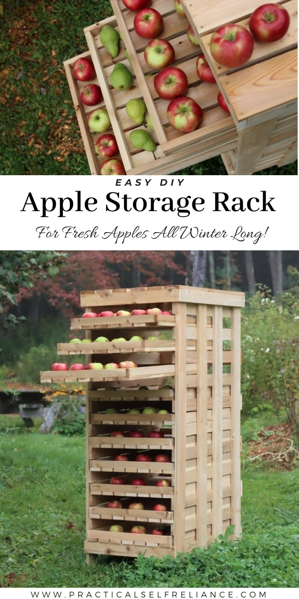 DIY Apple Storage Rack to Preserve the Fall Harvest