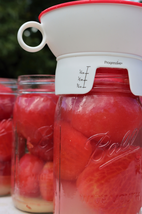 Headspace for Canning Tomatoes