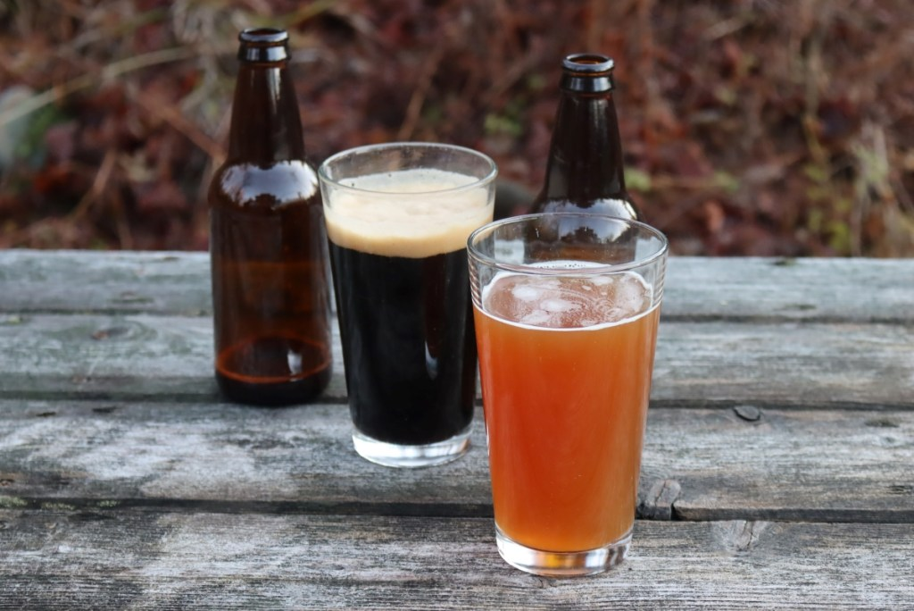 Two types of homemade beer