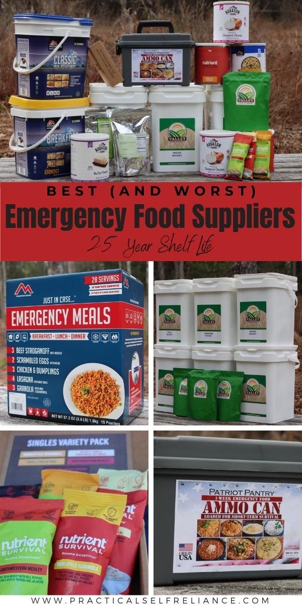 Best Emergency Food Suppliers