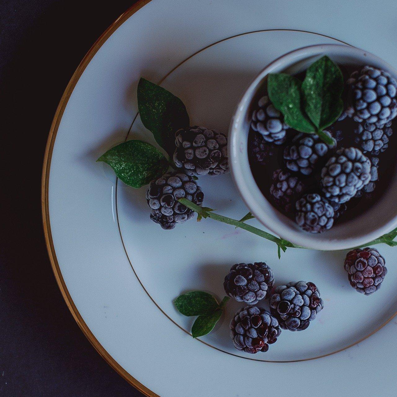 Freezing Blackberries