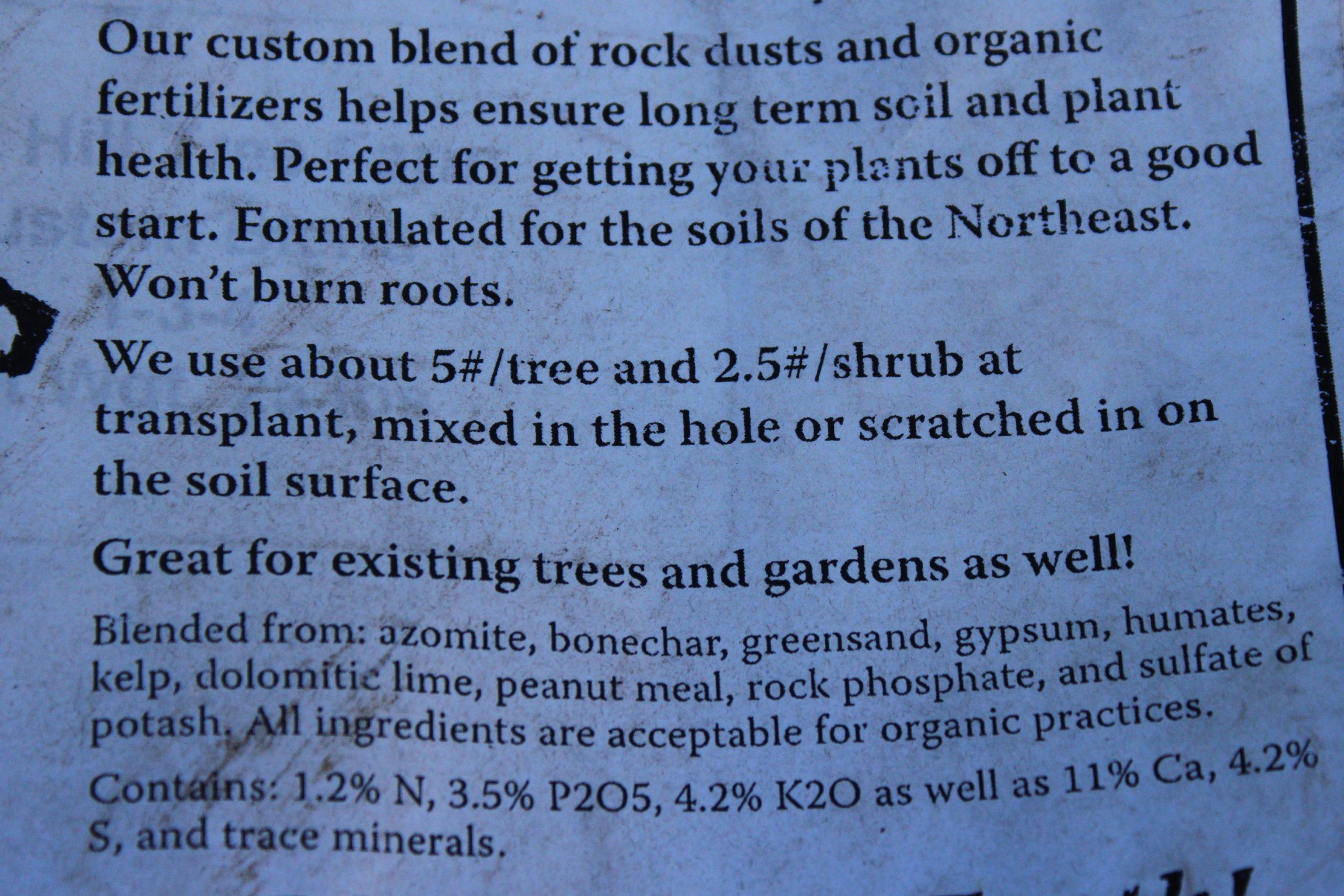Tree Planting Mineral Mix