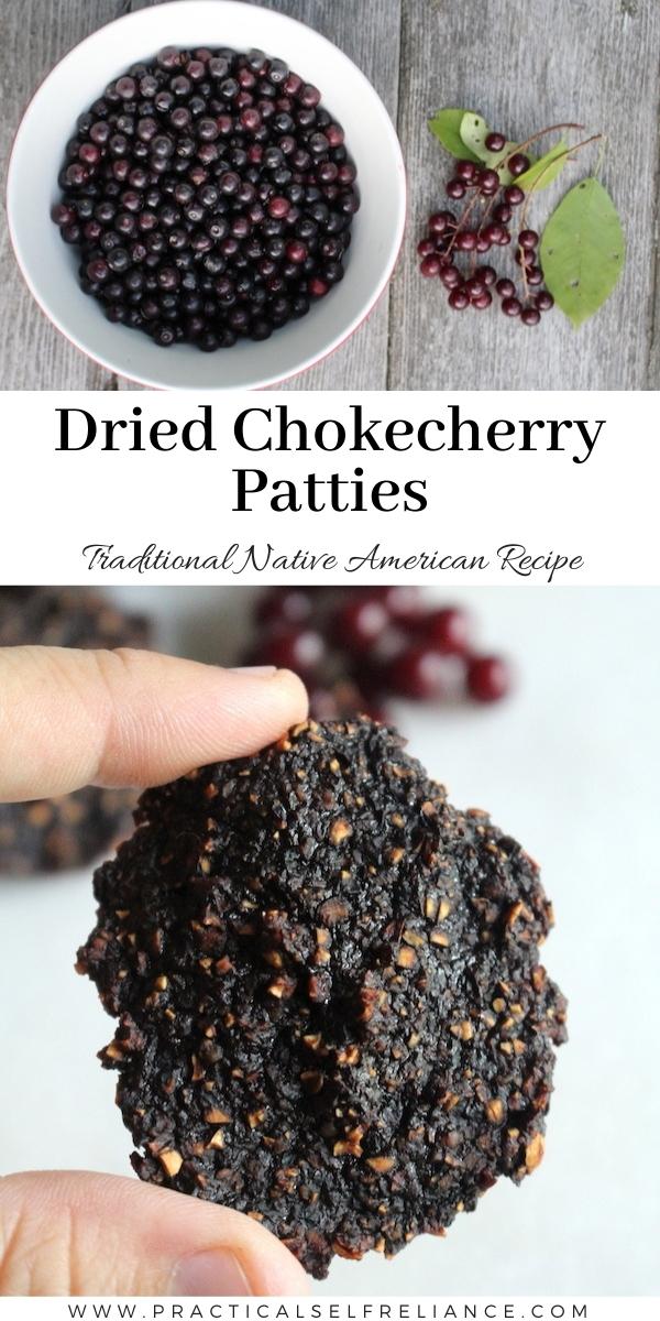 Dried Chokecherry Patties