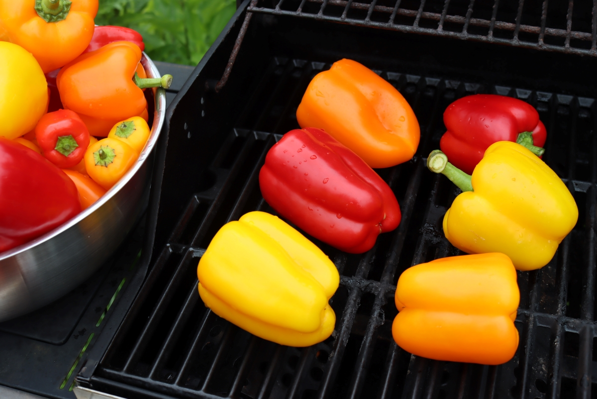 Fire Roasting Peppers