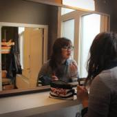 Ensuite bathrooms with well-lit mirrors, multiple sinks, heaters, and an included hairdryer were SO nice to have at Kabas Hostel in Antwerp, Belgium!
