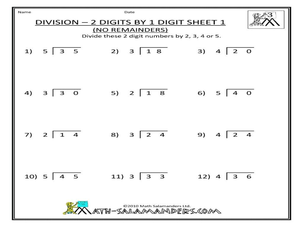 Free Math Worksheets For Grade 3 Division – Practice Worksheets [ 768 x 1024 Pixel ]