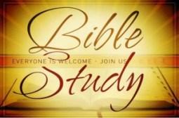 bible study everyone welcome
