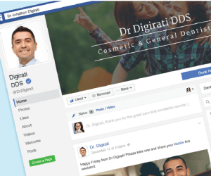 Dental Facebook design example