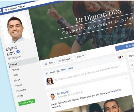 Dental Facebook design example