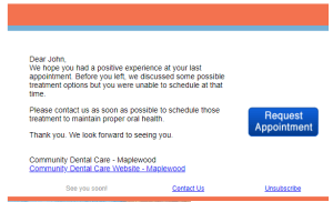 Email Review Request for Dentists