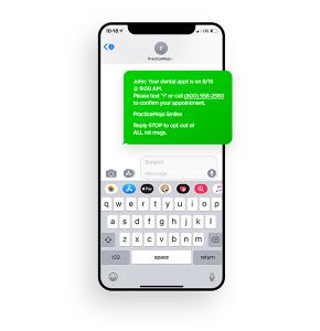 PracticeMojo Dental Reminder Text