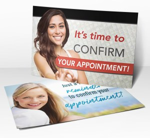 Dental Reminder Postcards from PracticeMojo