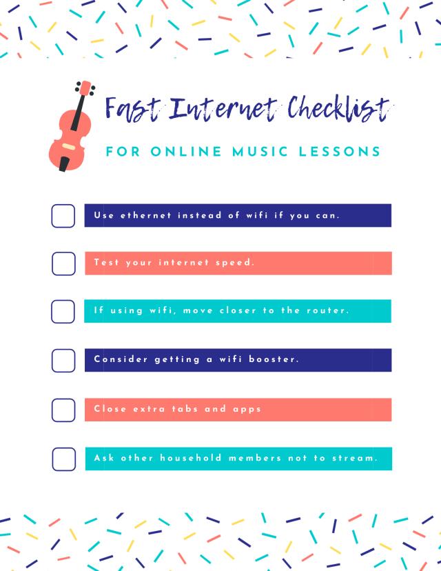 fast internet checklist