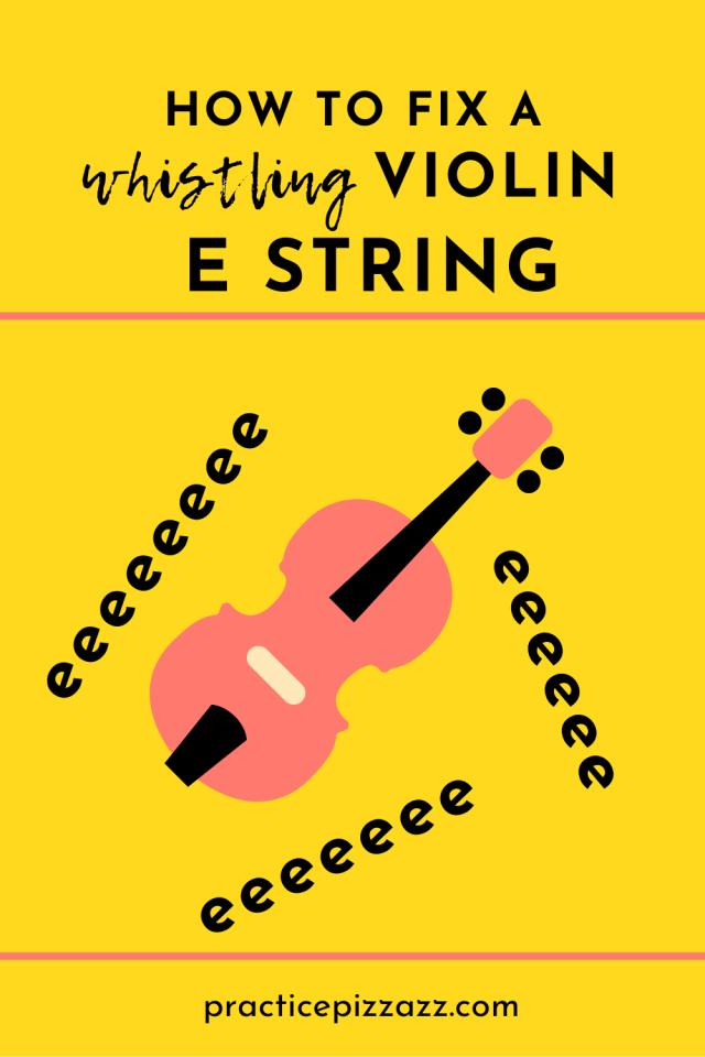 violin e string