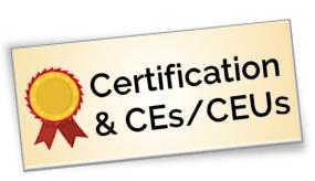 Courses that offer CEs / CEUs