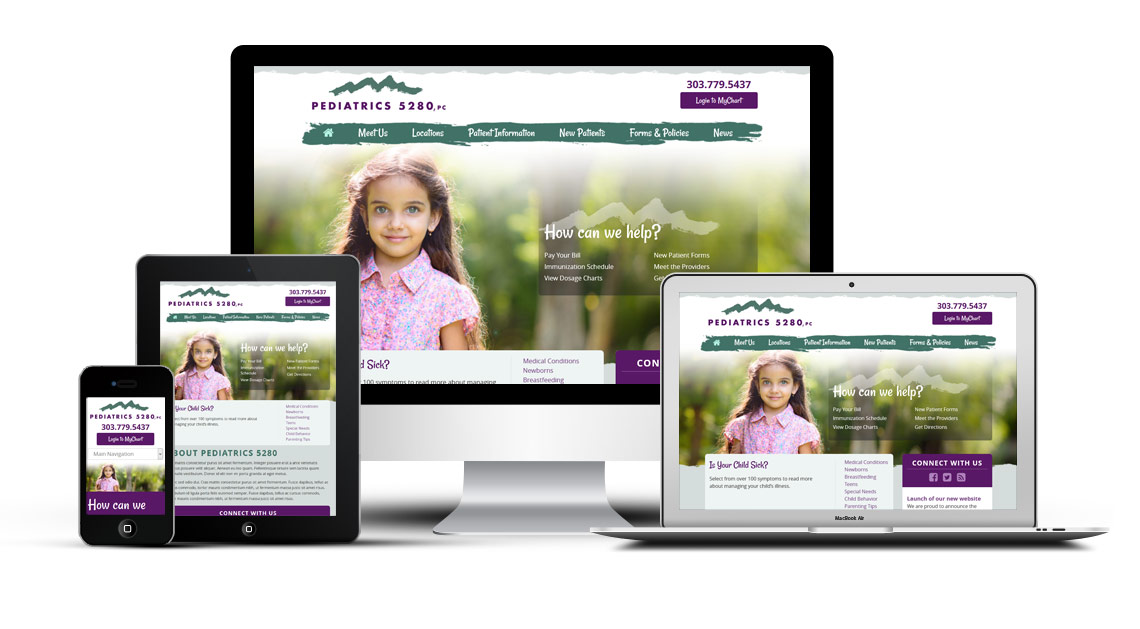 pediatrics 5280 pediatric website design