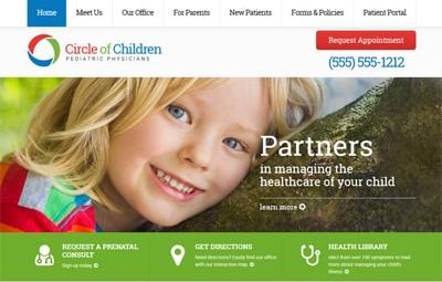 Homer pediatric website theme