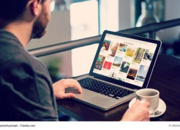 Selecting images for website page