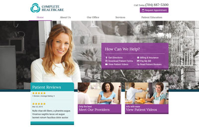 Leonardo healthcare website design theme