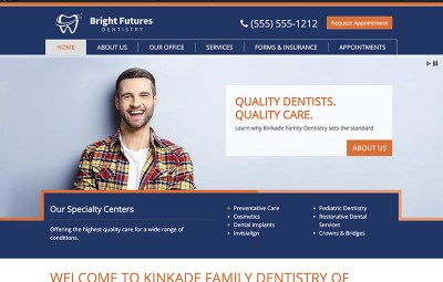 kinkade theme website design