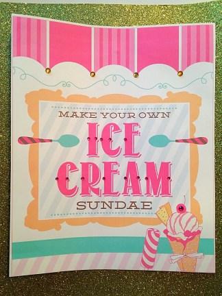 Make Your Own Sundae Signage