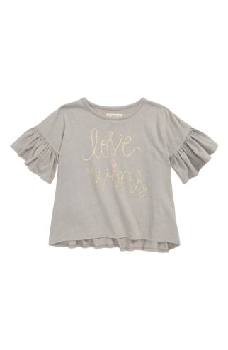 Tucker + Tate Graphic Ruffle Sleeve Tee
