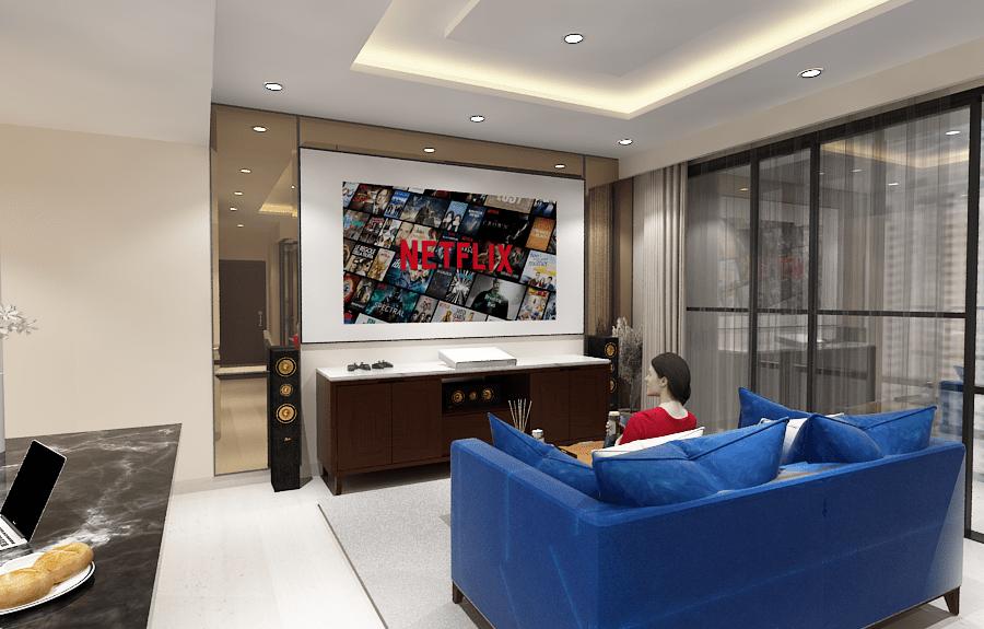 Desain Interior Apartemen Mewah jakarta - Living Room