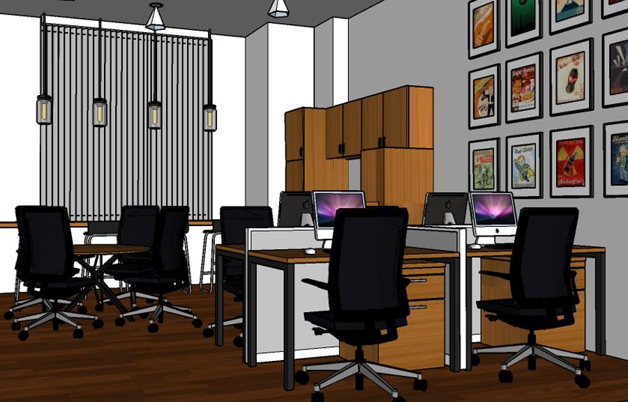 Desain Interior Kantor PT Universal Support - Capture