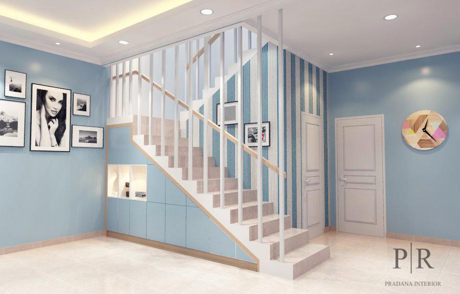Desain Interior Rumah Scandinavian - Area tangga - Jakarta
