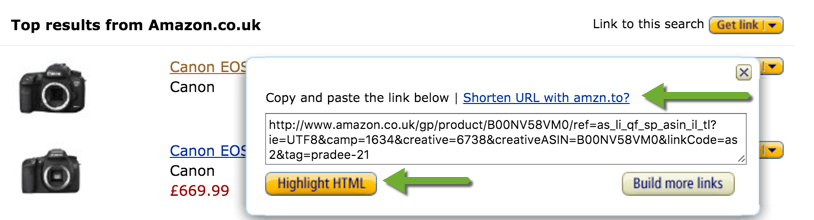 Amazon Affiliate Links and Short links