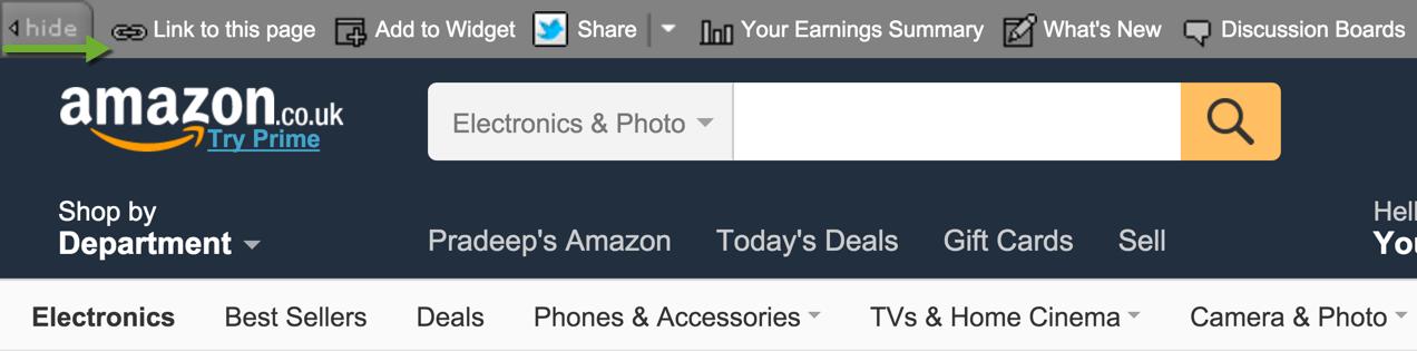 Amazon Associates Stripe Bar Website