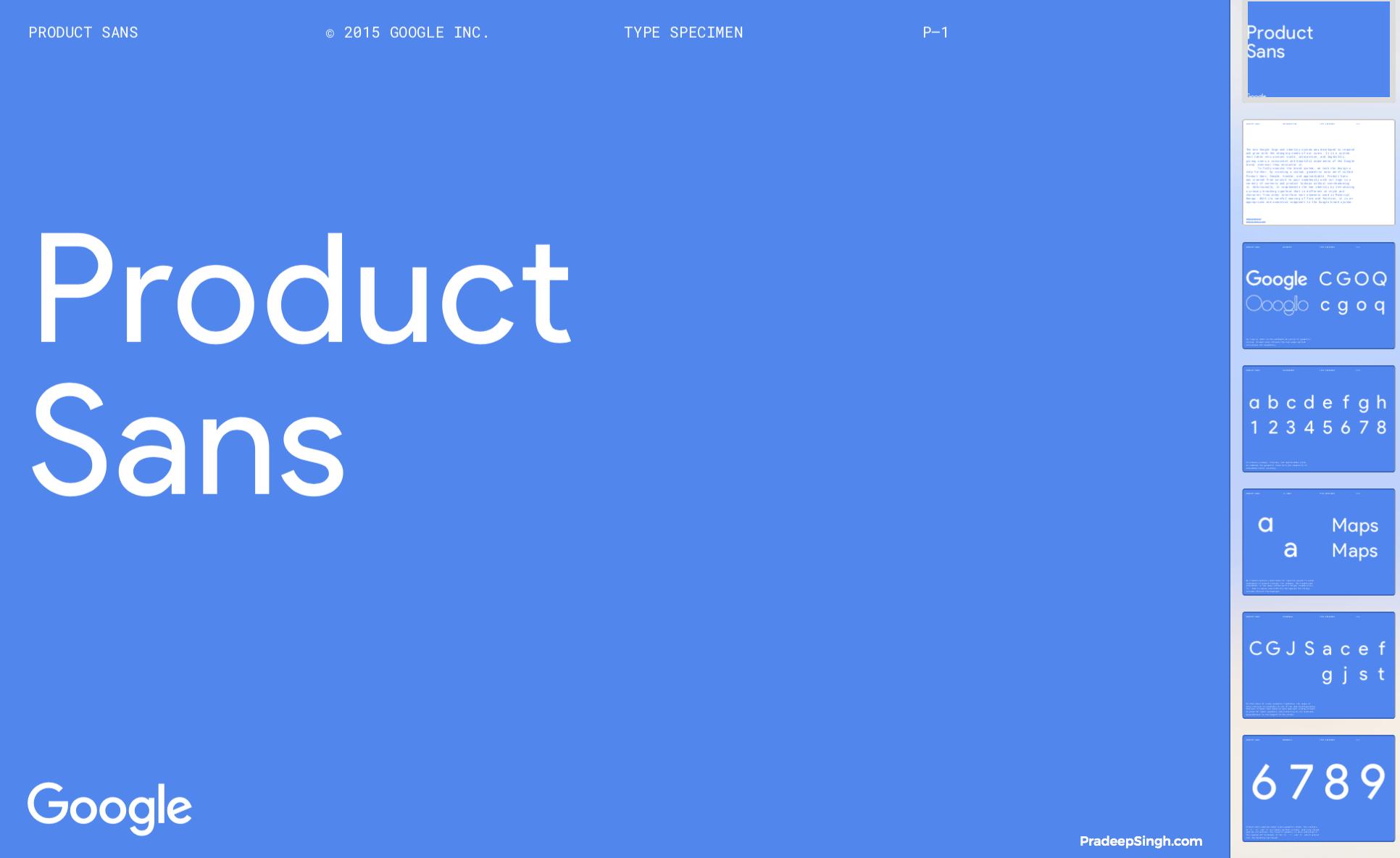 Product Sans Font - Google Sans Font