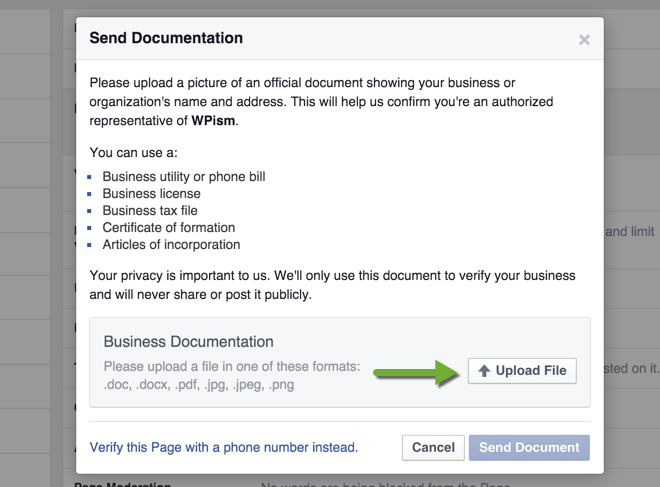 Send Official Business Documentation