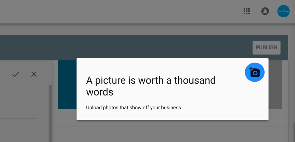 Upload Photos for your Business website Google
