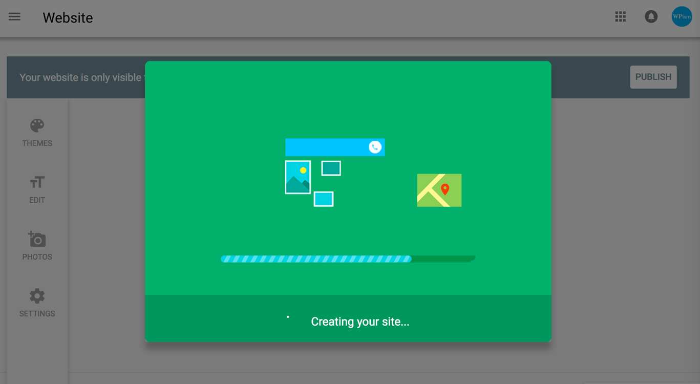 animated progress bar Google My Business Creating your Website