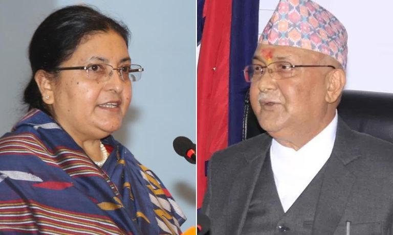 नेपालका राष्ट्रपति र प्रधानमन्त्रीद्वारा अमेरिकी राष्ट्रपति बाइडनलाई बधाई