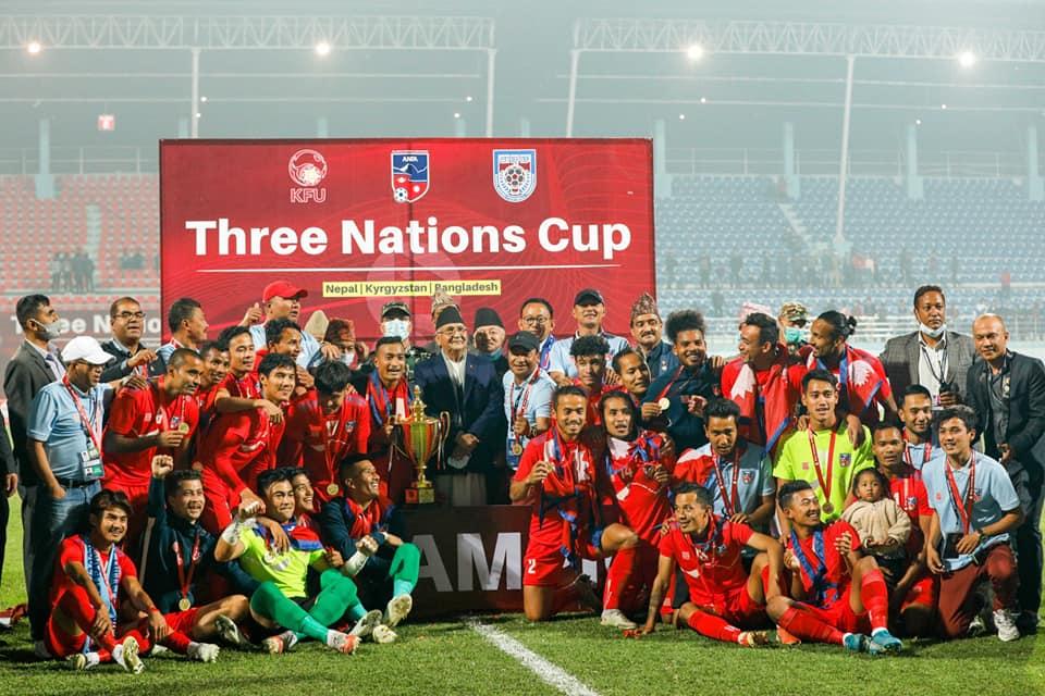 त्रिदेशीय कप फुटबलका विजेता खेलाडीलाई जनही ४ लाख दिइने