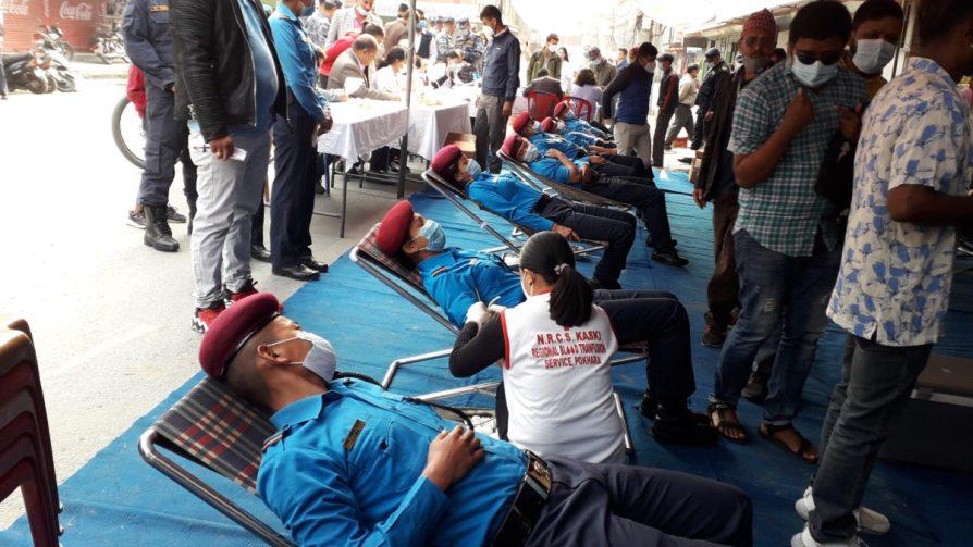 रेडियो अन्नपूर्णको १९ औं वृहत रक्तदान कार्यक्रम , २ सय ४३ युनिट रगत संकलन