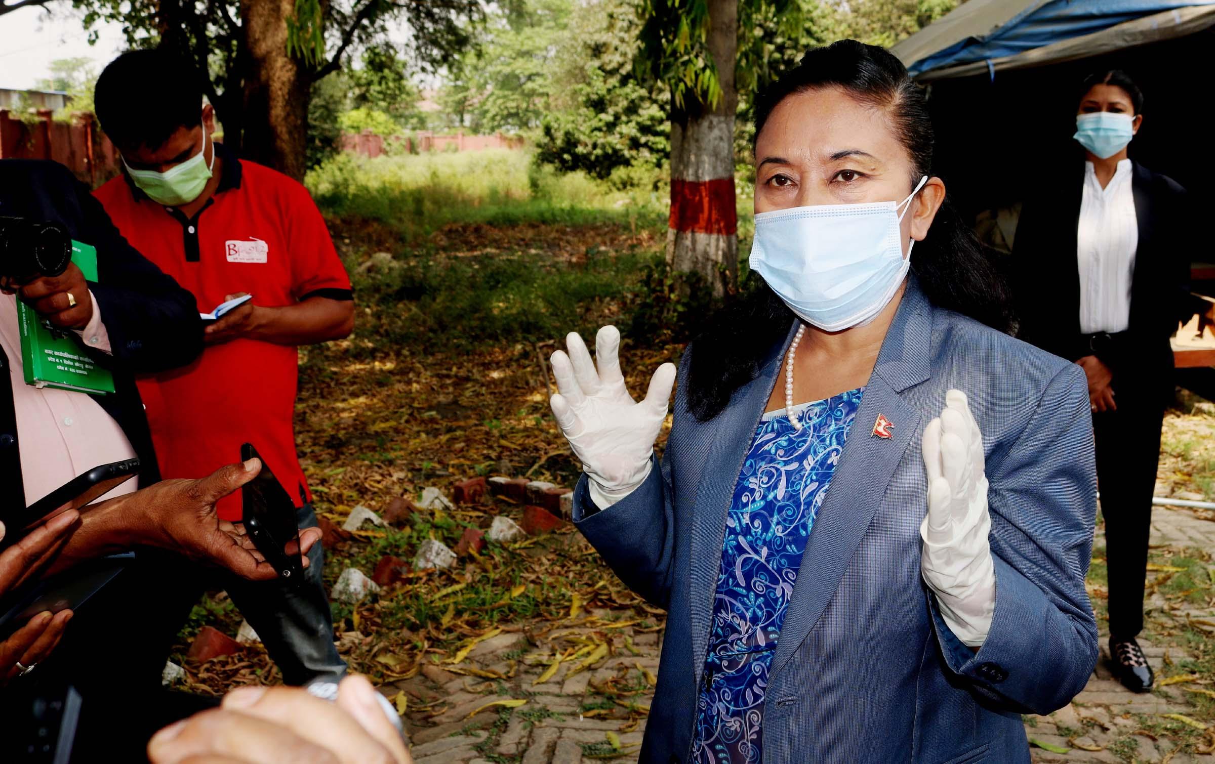 कोभिड अस्पताललाई तयारी अवस्थामा राखेका छौँ : मन्त्री राई