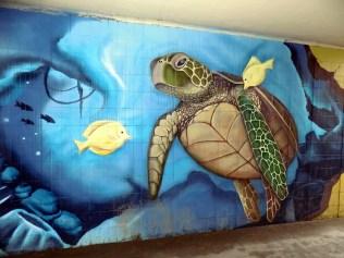 Tengeri graffiti Muzeum aluljáróban