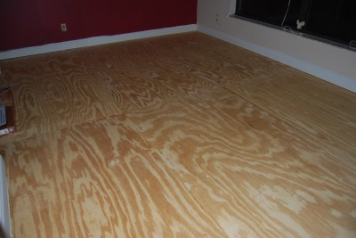 the living room makeover - subfloor complete
